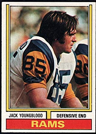 Amazon.com  Football NFL 1974 Topps  509 Jack Youngblood LA Rams ... 7b79763f1
