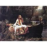 Posters: John William Waterhouse Poster Art Print - The Lady Of Shalott, 1888 (32 x 24 inches)