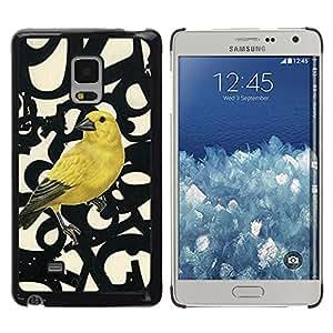 Caucho caso de Shell duro de la cubierta de accesorios de protección BY RAYDREAMMM - Samsung Galaxy Mega 5.8 9150 9152 - Spring Bird Numbers Abstract