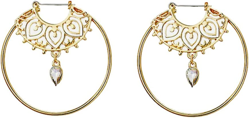 Womens Ethnic Gypsy Swirl Hoop Earrings Bohemia Jewelry