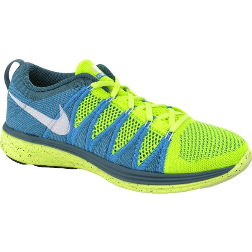 Nike Flyknit Lunar2 Mens Running Shoes 620465-714 Volt 7 M US