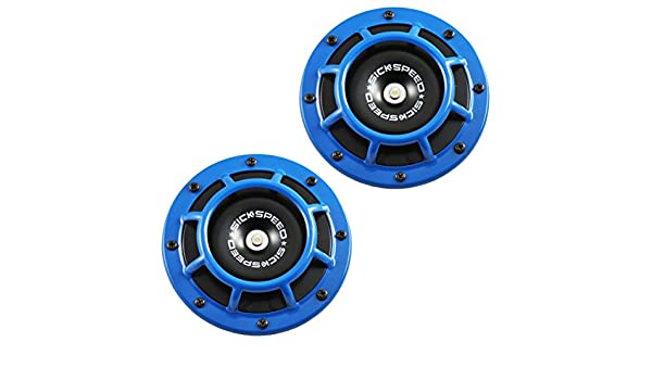 Sickspeed 2Pc Blue Super Loud Compact Electric Blast Tone Horn for Car//Truck//SUV 12V P3 for Land Rover Range Rover Sport