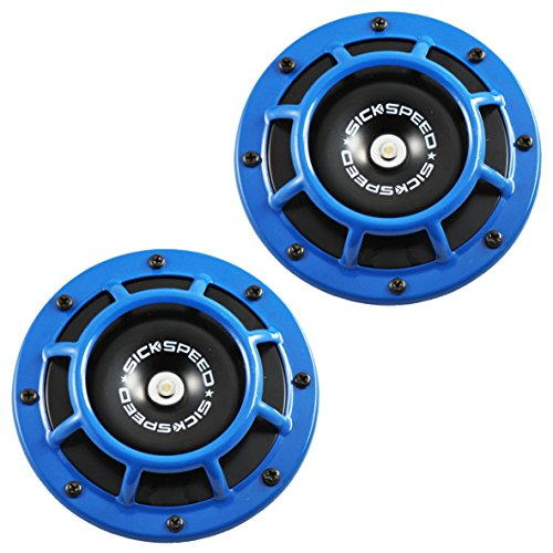 Sickspeed 2Pc Blue Super Loud Compact Electric Blast Tone Horn for Car/Truck/SUV 12V P3 for Suzuki Grand Vitara