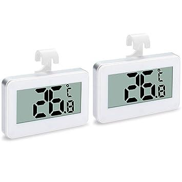 2 Unidades de Termometro Frigorifico, Termometro Nevera,Termómetro Digital Impermeable para Frigorífico y Congelador