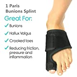 Adjustable Bunions Splints and Big Toe Bunions Corrector Brace Pads Toe Straighteners Separators Night Time Hallux Valgus Splints for Hammer Toe Bunions Pain Relief Relief