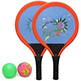 Beby Racket Set Sports & Outdoor Play Toys for Kids for Kids with 2 Rackets and Soft Balls