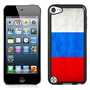 NEW Unique Custom Designed iPod Touch 5 Phone Case With Russia Flag_Black Phone Case