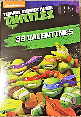 Teenage Mutant Ninja Turtles Valentine Cards 32 Count