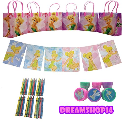 Disney's Tinker Bell Goody Bag Party Favor Set 42pc.Coloring Book (Tinkerbell Goody Bag)