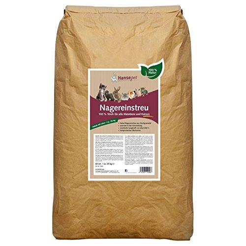 Z Lettiera naturale, ideale per tutti i roditori,60 Litri è composta al 100% da granulato di paglia ALTO POTERE ASSORBENTE DEL 300%