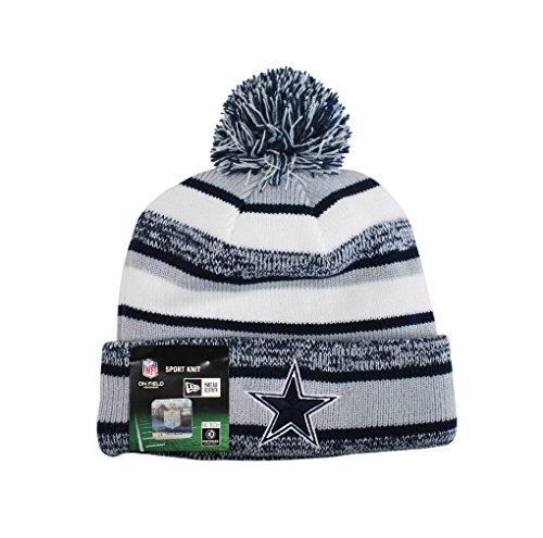 New Era NFL 2014 On-Field Knit Hat (Navy Blue/gray/white)