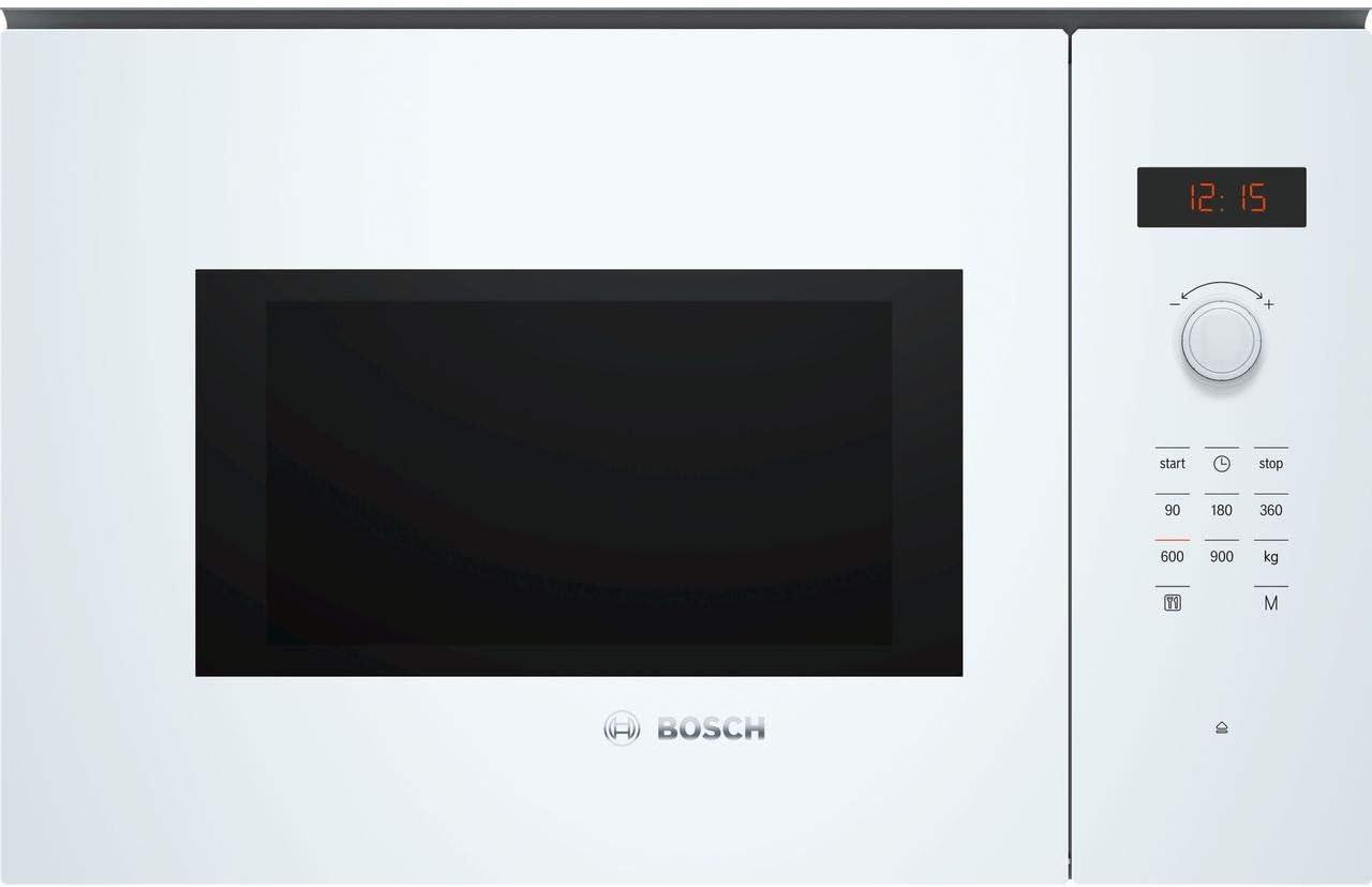 Bosch BFL553MW0B Serie 4 900W 25L - Horno microondas integrado, color blanco