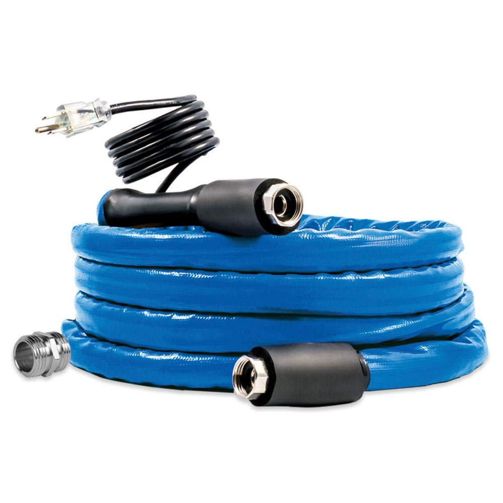 Camco Freeze Ban Heated Drinking Water Hose, 12' Blue (12' X 5/8'') by Camco