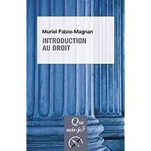 Introduction au droit [nouvelle édition]