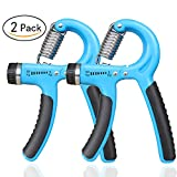 MQOUNY 2 Pack Hand Grip Strengthener Workout,Weight Set,Hand Exerciser, Strength Trainer,Adjustable Resistance 30-145 Lbs Non-slip Hand Grip Exerciser,Forearm Grip Workout Fingers, Palms (Blue) For Sale