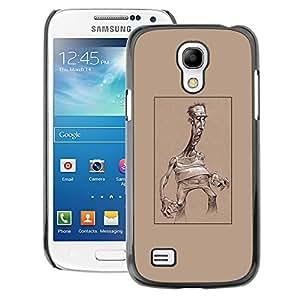 A-type Arte & diseño plástico duro Fundas Cover Cubre Hard Case Cover para Samsung Galaxy S4 Mini i9190 (NOT S4) (Caricature Brown Man Art Artist Poster)