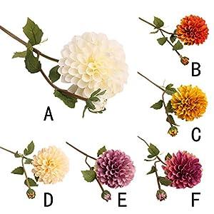 ❤SU&YU❤Single Artificial Flower Dahlia Bridal Wedding Bouquet Home Furnishing Decor 69