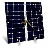 3dRose Alexis Photography - Objects - Dark blue solar power panel divided into two parts by white frame - 6x6 Desk Clock (dc_271344_1)