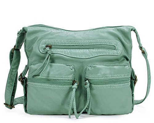 Scarleton Multi Pocket Crossbody Bag H188753 - Mint