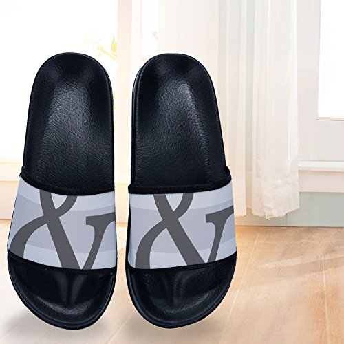 Grey Non Geometric Slippers Buteri Slip amp; Couple Quick Womens Slipper Symbol Drying S5w8qT8RWv
