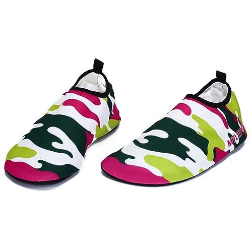 Nclon Hombres Mujer Secado Rápido Respirable Zapatos de Agua Descalzo Aqua Calcetines,Antideslizante Skin Shoes