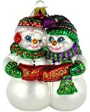 Old World Christmas Best Friends Glass Blown Ornament