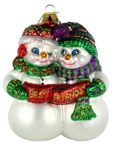 old world christmas best friends glass blown ornament