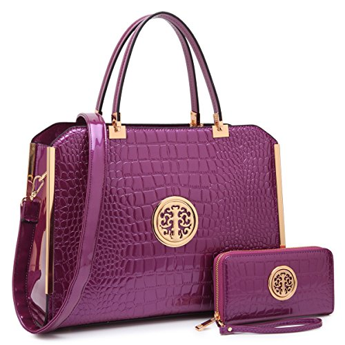 - MARCO collection Fashion Designer Women Satchel Top handle Handbag with Free Wallet Set for Women(10-6900W-PP)