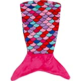 PixieCrush Mermaid Tail Blanket - For 18'' Doll (Pink, Blue, Coral, Purple)