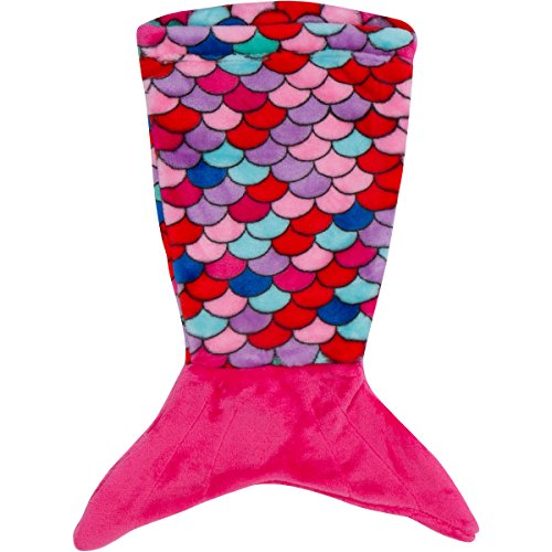 PixieCrush Mermaid Tail Blanket - For 18'' Doll (Pink, Blue, Coral, Purple) by PixieCrush
