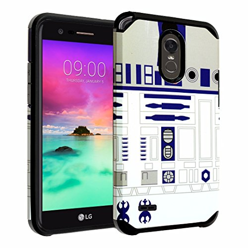 LG Stylo 3 Case, DURARMOR [Drop Protection] Star Wars R2D2 Astromech Droid Robot Dual Layer Hybrid ShockProof Slim Fit Armor Bumper Defender Protector Case Cover Star Wars R2D2