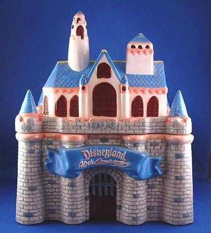 Disney Cookie Jars Amazon Com >> Disney S 40th Anniversary Sleeping Beauty S Castle Cookie Jar Disneyland S Limited Edition