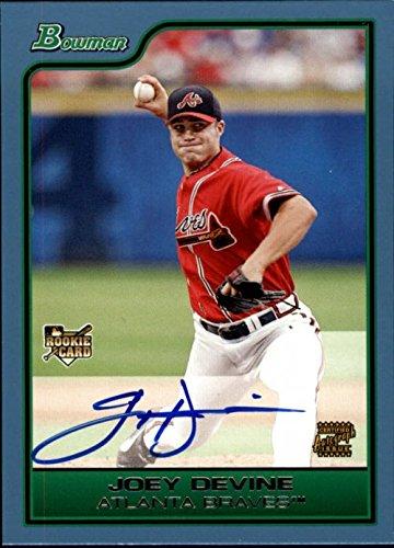 2006 Bowman Autograph Auto - 2006 Bowman Blue #222 Joey Devine Autograph Auto Rookie RC Card /500