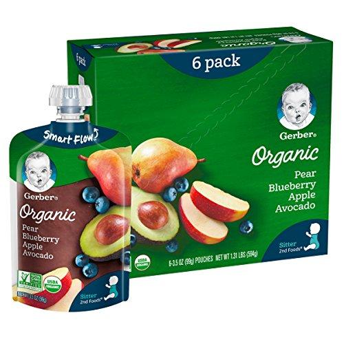 51b2vEuLBNL - Gerber Purees Organic 2nd Foods Baby Food Fruit & Veggie Variety Pack, 3.5 Ounces Each, 18 Count