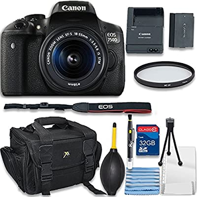 Canon EOS 750D/Canon EOS T6i DSLR Camera with Canon EF-S 18-55mm f/3.5-5.6 IS STM Lens + 32GB SD Memory Card + Accessory Bundle - European Model