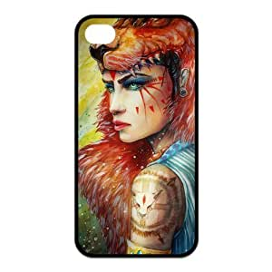 Princess Mononoke Pattern Design Solid Rubber Customized Cover Case for iPhone 4 4s 4s-linda718