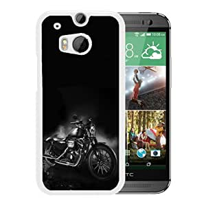 Personalized HTC ONE M8 With Harley Davidson 18 White Customized Photo Design HTC ONE M8 Phone Case