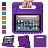 eTopxizu Case Compatible All-New Amazon Fire HD 8 2017/2018-Light Weight Shockproof Convertible Handle Stand Kids Protective Case Compatible with Fire HD 8 Tablet 2017/2018 (7th/8th Generation),Purple