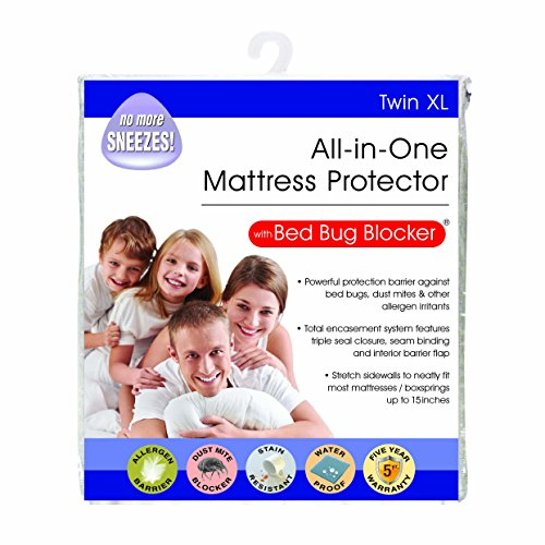 Bed Bug Blocker Hypoallergenic All In One Breathable Twin XL Mattress Cover Encasement Protector Zippered standard water protection Dust Mite Allergens Insects