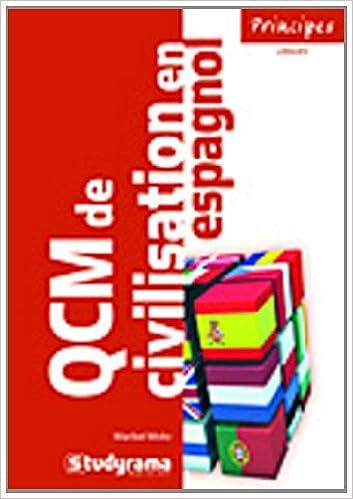 Téléchargement QCM de civilisation espagnole pdf, epub ebook