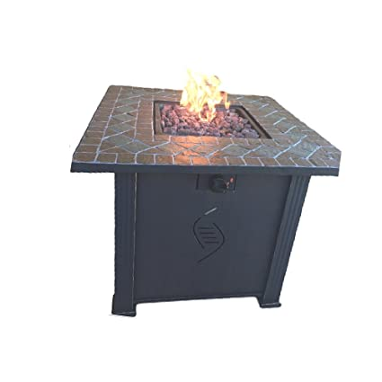 Amazon Com Patio Propane Fireplace Gas Burner Large Rustic Bowl