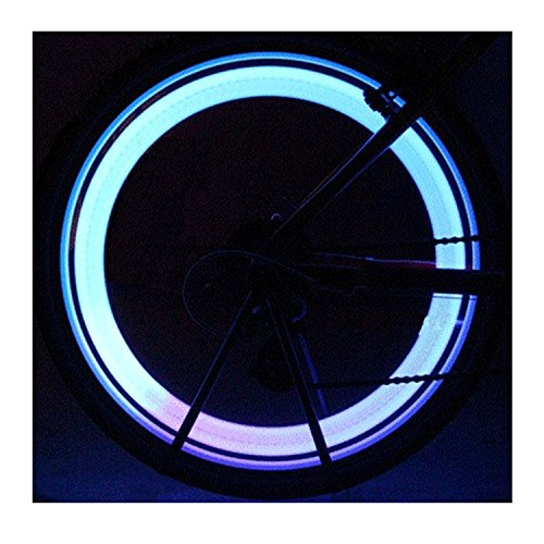 Bike Spoke Light 6PCS Willceal,Bike Wheel Light,Tyre Wire Right with 6 LED Flash Model Neon Lamps,Bike Safety Alarm Light.