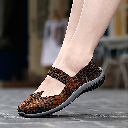 AIRAVATA Zapatillas SH075 Mujer para Marrón1 C0naR0xTqw