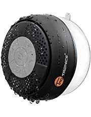 Wireless Shower Speaker, TaoTronics Water Resistant Portable Bluetooth Speaker (Crisp Sound, Build-in Microphone for Hands-Free Calling, Solid Suction Cup, 6hrs Play Time, Control Buttons)