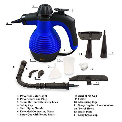 Power Steamers For Cleaning ~ Handheld steam cleaner high pressure bathroom kitchen