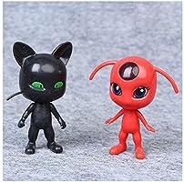6Pcs Miraculous Ladybug Action Figure Doll Toy Gift DE