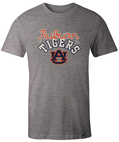 (NCAA Auburn Tigers Adult Women NCAA Classic Arch Script Image One Women's Triblend Short sleeve T-Shirt, Medium,HeatherGrey)