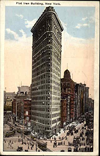 Flat Iron Building New York, New York Original Vintage Postcard