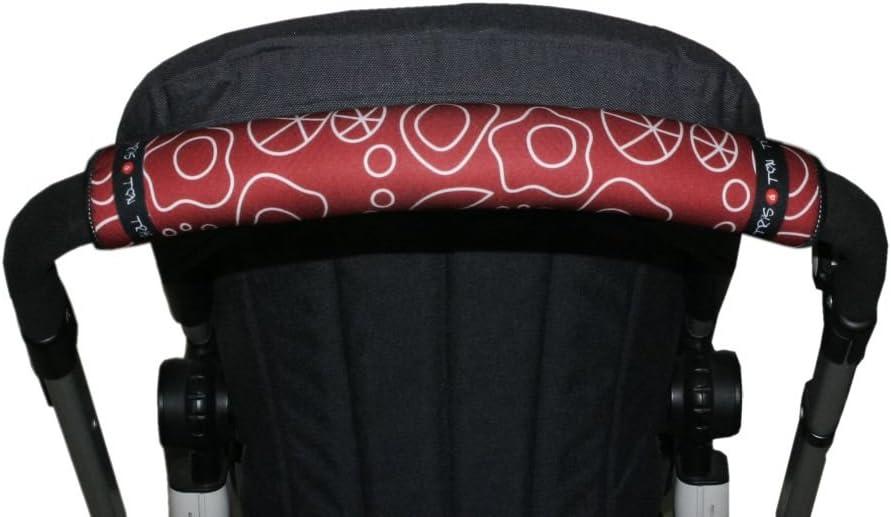 empu/ñadura funda para silla de paseo cochecito carrito carro White Tris y Ton Tris/&Ton Fundas empu/ñaduras horizontales Modelo Mouse