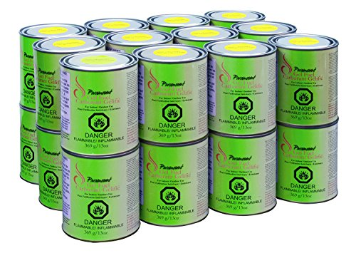 Paramount GF-CAN-06 Gel Burner Fuel (24 Pack), - Fuel Firepot Gel